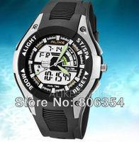 Original brand ALIKE Luminous LED stopwatch fashion sports waterproof watch scratch pointer digital dual display hot sale cheap