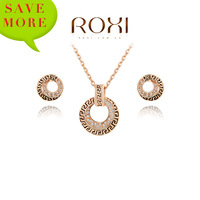 ROXI Exquisite antique necklace earrings sets plated with crystals,Christmas to give the most appropriate gifts,2070021690