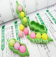 Creative Cute and Lovely Peas Eraser Verisimilitude Beans Rubber Eraser 50pcs/lot Free Drop Shipping