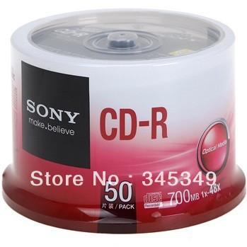 Ingrosso 50discs/lot migliore qualità marca famosa CD-R disco vuoto 48x 700mb dati 80 min cdr registrabili cd vuoto spedizione gratuita