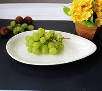 Japanese style plate ceramic white decoration disc dish drop type disc ceramic tableware