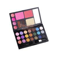 Eyebrow Cream Powder Cake Lip Gloss Cheek Blush Eyeshadow Make Up Kit Combo P4PM