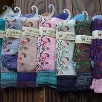 autumn new  cute retro Cotton Socks  volk socks women knee high  lace invisible socks women free shipping