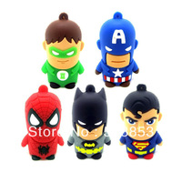 5pcs/lot Super Man With Chain Model USB 2.0 Memory Stick Flash Drive 4GB 8GB16GB 32GB
