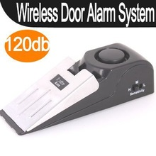 1pcs 120 dB Security Home Wedge Shaped Door Stop Stopper Alarm Block Blocking Systerm   Promotion