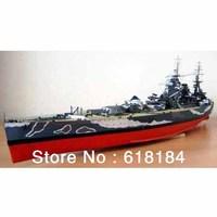 Free shipment diy paper model Battleship 1.1 meter Long 1:200 World War II British HMS Rodney Battlecruiser 3d military puzzles