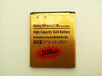 free  shipping  100pcs/Iot  Gold 2450mAh Battery For    i8190 Galaxy S3 Siii S111 Mini / Ace 2 i8160