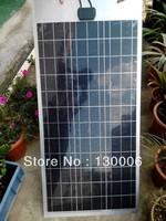 100W/18v   flexible solar panel/Aluminum plate/solar cells/solar system kit/sun energy  /The 12 v car battery charging