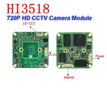 "720P HD IP Camera board Web Cam Hi3518C DSP 1/4""HD OV 9712 CMOS + 3.0Mega camera lens +IR cut CCTV security Camera Module onvif"