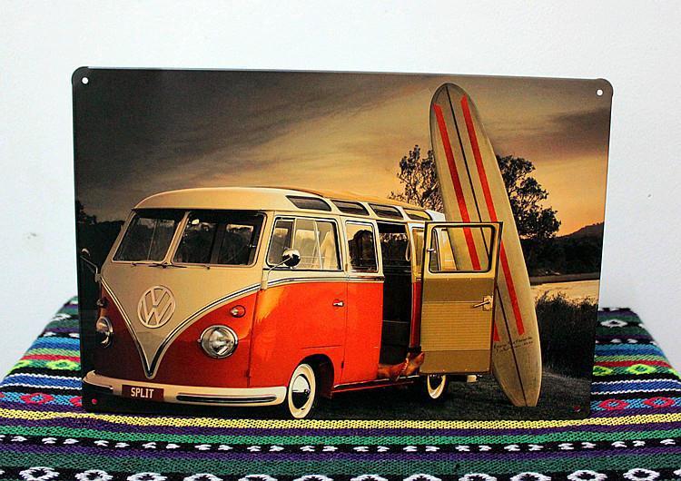 Bus Tin sign Art home decor House Cafe Bar vintage Metal Painting G-12 Free Shipping(China (Mainland))