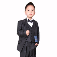 Male child formal dress performance wear spring and autumn child slim suit set children's clothing blazer