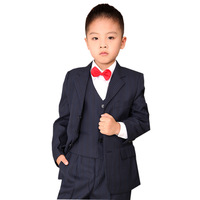 Free shipping new  Child clothing formal dress quality  boy suit blazer set male child stripe suits Set 2-6 Age