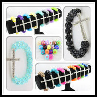 Free Shipping ( 3 Pcs/lot ) 12MM Shmballa Resin Beads With Crystal Alloy Cross Made Of Shambhala Bracelets&Bracelet For Women
