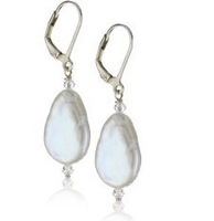 Free shipping  natural baroque pearl earrings style earrings Simple Jewelry with lots pearls