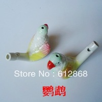 The parrot Ceramic water birds whistling music furnishing articles children fun toys water whistle YH-04 10pcs/lot  y1-7g50