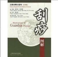 Illustration of Guasha (Scrape) Therapy,English-Chinese Traditional Chinese Medicine, TCM