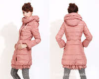 2013 new authentic women lace jacket winter Korean version of Slim-type long sections warm down jacket
