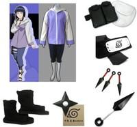 Cosplay Costume Naruto Shippuden Hinata Hyuga Complete Set Halloween Christmas Party Uniform Dress Women's Cosplay Dress