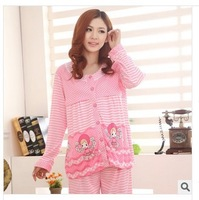 Free Shipping Maternity Long Sleeve Pajamas Nursing Breastfeeding Clothes Pregnant Women Sleepwear Motherhood Lactation Clothing