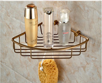 Hot Sale Wholesale And Retail Antique Bronze Wall Mounted Bathroom Shower Caddy Shelf Triangle Storage Holder