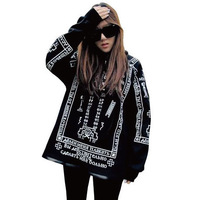 Free Shipping 2014 New Fashion KTZ Bigbang HARAJUKU Skull Lovers Sweatshirt Punk Gothic Coat Hoodies M,L,XL RG1309624