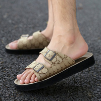 2013 summer breathable fashion foot wrapping genuine leather male slippers sandals beach shoes open toe casual sandals