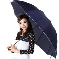 Umbrella sun  anti-uv male commercial  super large double  folding   umbrella Free shipping