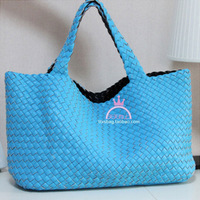 Free Shipping 2012 female handmade woven bag straw bag women's handbag double faced picture package big bag  Wholesale Xmas Gift
