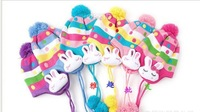 Hot Winter baby cap models cartoon rabbit children baby wool the rainbow hat Free shipping