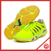 New Model HERO 2 lin dan 2013 world championships tournament badminton shoes Li-ning AYAH009 Fluorescent yellow