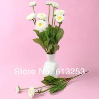 Artificial Flower / Household Decorative Rural Style Simulation Flower Chrysanthemum. White Silk Flower.  Wholesale  ID:A0106928