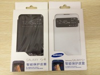 new arrival smart  flip cover s view  case for Samsung i9500 Galaxy  S4 case
