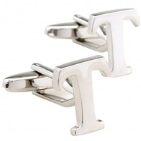 letter copper T cufflinks 5 Pairs Free Shipping for gift Promotion 0540