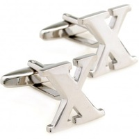 letter copper X cufflinks 5 Pairs Free Shipping for gift Promotion 0544