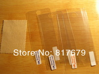 Free Shipping 500PCS For iPhone 5C Clear Screen Protector Guard LCD Protector Film Front+Cloth Support Dropship