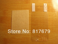Free Shipping 50PCS For iPhone 5S Clear Screen Protector Guard LCD Protector Film Front+Back+Cloth Support Dropship