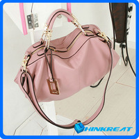 2013 New Korea Style Pillow Pack Women Genuine Leather Cowhide Lady Handbag Shoulder Leather Handbag Bag Free Shipping WB03