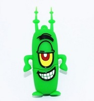 Wholesale - New Cartoon Green Plankton USB flash drive 2GB-512GB 10pcs