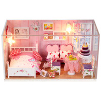 Only Love!Hand-made DIY wood doll house toys,Assembling Model, cutedall room, home furnishing decoration- TOYS & GIFTS!