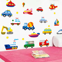 Child real boy decoration sticker cartoon wall stickers car p141