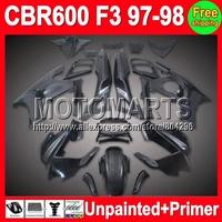 7gifts Unpainted+Primer Fairing For HONDA CBR600F3 97-98 CBR 600F3 CBR600 F3 CBR 600 F3 97 98 1997 1998 1997-1998 Fairings