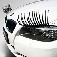 Auto Lashes Car Eyelash With Diamond Square Crystal Wholesale1000pcs(500pair) Accessory Automobile Stickers
