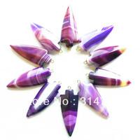 (Min.order 10$ mix)(10 pcs/lot) Carved Onyx agate arrowhead Pendant Bead