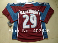 wholesale Avalanche #29 Nathan MacKinnon red hockey jerseys
