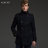 Kzoe wool coat medium-long 2013 woolen overcoat male wool coat outerwear n32605