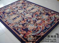 Chinese style handmade wool carpet bedroom floor mats home modern