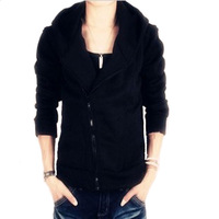 Hooded cotton jacket outerwear male spring and autumn thin slim jacket baseball shirt top trend