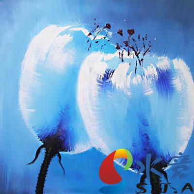 Caixa de medidor de pintura a óleo da água pinturas pintura decorativa moldura da imagem casa da flor da papoila(China (Mainland))