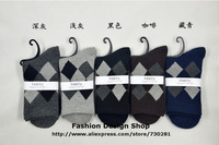 2013New 1lot=10paris Good quality argyle sport brand men's socks for men autumn -summer socks men free ship FY009