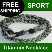 New!!! 100pcs Mix Colors Three Triple Titanium Silicone Sport Tornado Necklace